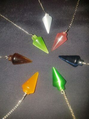 Assorted Cat's Eye plus other Gemstone Pendulums - Divination Scrying Meditation