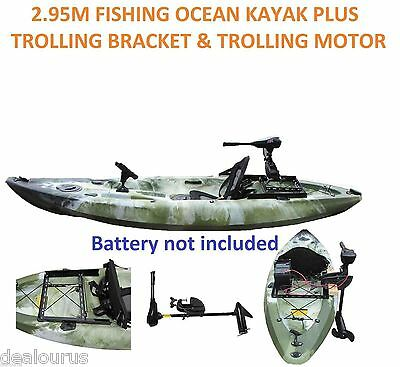 Fishing Kayak Sit-on Ocean Kayak with Trolling Bracket & Trolling Motor