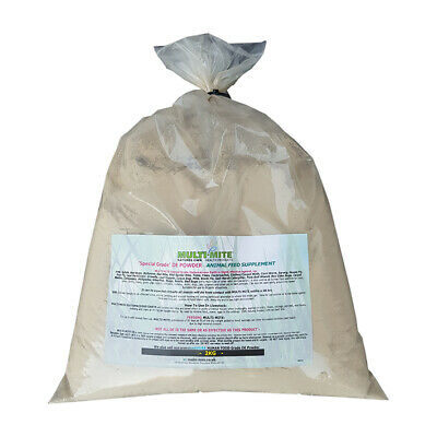 MULTI MITE Diatomaceous Earth 2KG Sack DE  - FEED Grade Red Mite Worming Powder