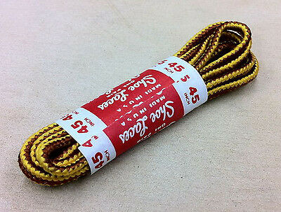 (1 Pair) Shoe Boot Laces Golden Tan  Timberland Strings Shoelaces ALL SIZES