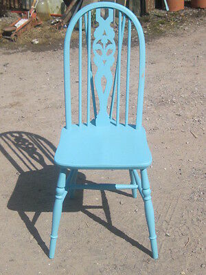 Vintage  Country  Dining Chair   painted Blue
