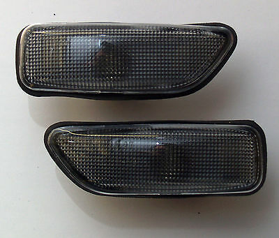 VOLVO XC90 2002- CRYSTAL BLACK SIDE LIGHT REPEATER INDICATORS (with gaskets)