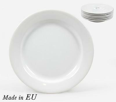 6x Classic Plates 24cm 9inch Dinner Plates white porcelain plates every day use