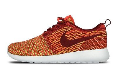 NIKE W Roshe One Flyknit tg. 42 Red Team Red BRIGHT CRIMSON Volt 704927 600