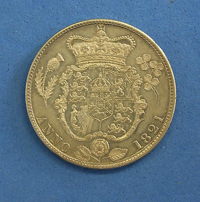 1821 George IV Half Crown coin - High Grade  (Q4/1)