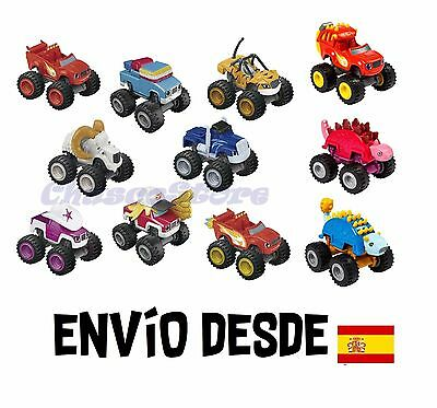 Coches Blaze and Monster Machines Metálicos Original Fisher-Price 8x6cm aprox.