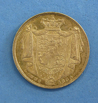 1834 William IV Half Crown coin Script WW - High Grade  (Q4/8)