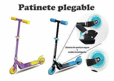 Patinete Plegable Scooter Patin Acero Inoxidable Homologado Colores Garantia