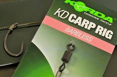 Korda NEW KD Rig Ready Pre Tied Carp Fishing Rigs x3 *All Sizes & Types*