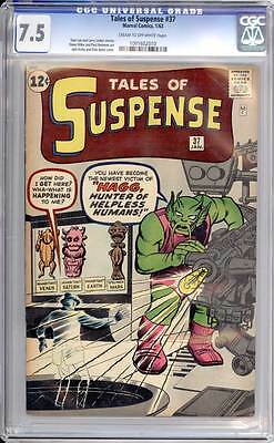 Tales of Suspense # 37 Hagg, Hunter of Helpless Humans !   CGC 7.5 scarce book !
