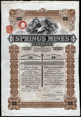 1935 Union of South Africa: Springs Mines Limited