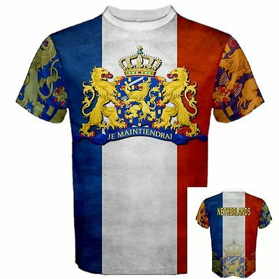 NETHERLANDS Dutch Amsterdam Coat of arms Country National FLAG TEES T-SHIRT  NET