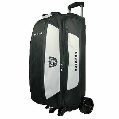 NFL 3 Ball Triple Roller Bowling Bag Oakland Raiders