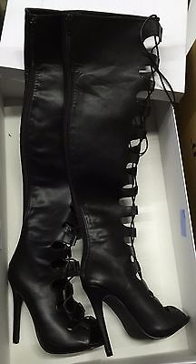 LUXE BY JUSTFAB Thigh High Womens Knee High Boots SZ 7 M