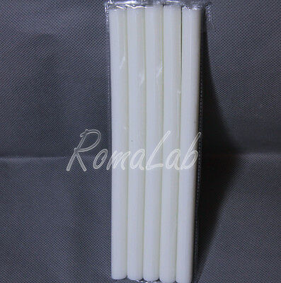 5 STICK DI COLLA BIANCA PER PISTOLA A CALDO DIAMETRO 11 MM HOT GLUE STICKS Ba...