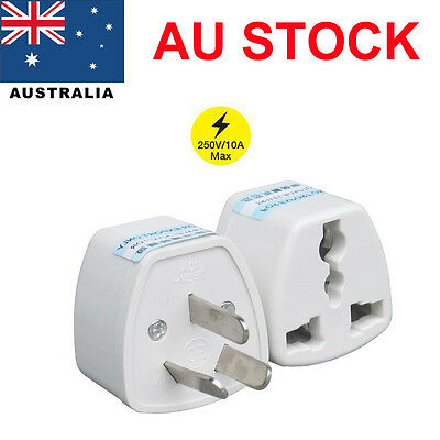 Safe 3 PIN Australian Travel Power Plug Adapter EU UK US to AU Adaptor Converter