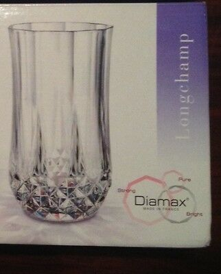 1pc NEW CRISTAL D'ARQUES LONGCHAMP HIGHBALL~TUMBLER~GOBOLETE 12oz.