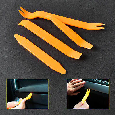 4pcs Plastic Car Door / Radio Trim Mold Removal Double Ended Tools set
