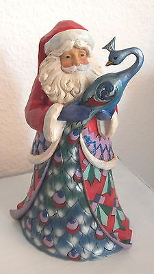 Jim Shore Santa Winter Wonderland with Peacock Weihnachtsmann Heartwood Creek