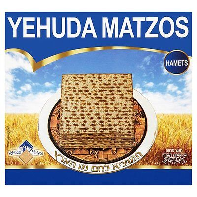 Kosher Yehuda Matzos (Not Kosher for Passover) Matzah Hametz 300g Kasher, Matzot