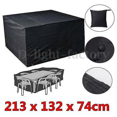 213cm Waterproof Garden Furniture Rain Cover For Chair Table Shelter Rattan