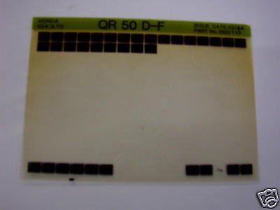 Honda Qr50D - F 1984 Gen Parts Catalogue Microfiche