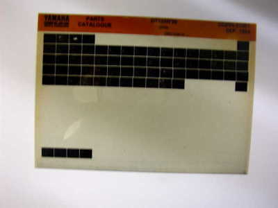 Yamaha Dt125R Dt 125 R 1995 Gen Parts Catalogue Microfiche
