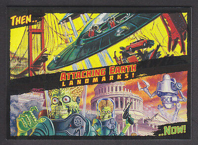 Mars Attacks Occupation - Then And Now Insert Card - # 9