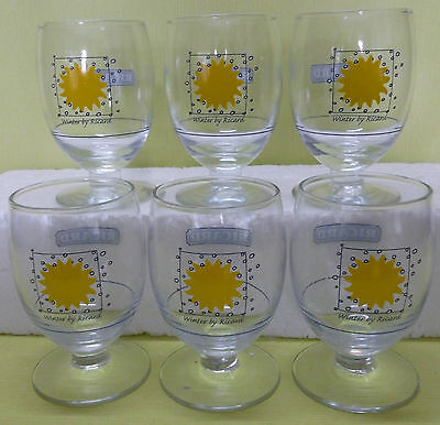 Lot 6 Verres Ricard Ballon 17 Cl , Serie Les 4 Saisons , Winter , Td , Vr340 *