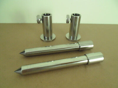"2 x TMC Stainless Steel Stage stands with locking nuts, with 2 x 5"" inserts."