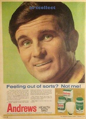 Original Vintage Australian Ad (1970): Andrews Health Salt