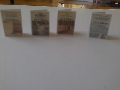 Dollhouse Miniature Books Lord of the Rings Set J.R.R. Tolkien