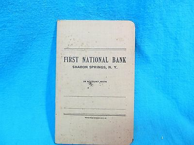 Nos Unused First National Bank Sharon Springs Ny Account Savings Book