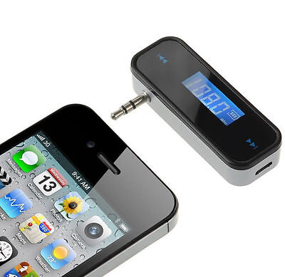 Mini Wireless Car FM Transmitter Radio for MP3 Music Player iphone ipod samsung^