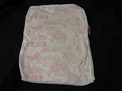 Amy Coe Limited Edition Circus Toile Baby Blanket Pink White Cream Infant