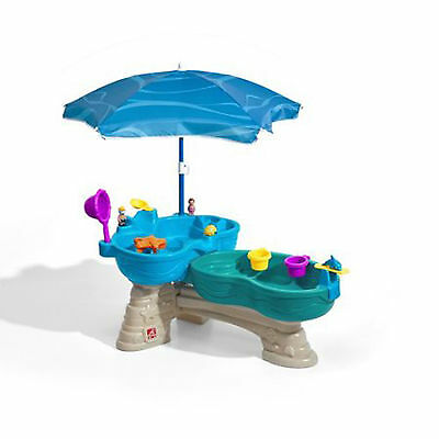 Water Table For Kids With Umbrella Outdoor Playset Backyard Summer Toddler Toy
