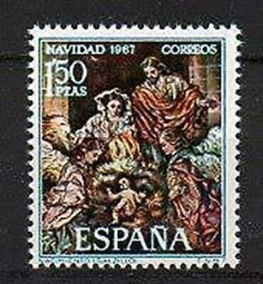 A7769) SPAIN 1967 Scott#1508 MNH** Christmas 1v