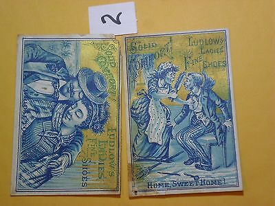 VINTAGE Early 1900's LUDLOW'S LADIES FINE SHOES ADVERTISEMENT CARDS
