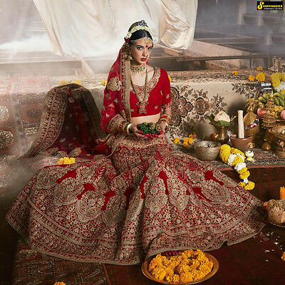 Lehenga Wedding wear Indian Bollywood Saree Ethnic Designer Choli dress freeship