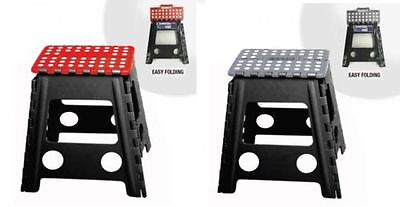 39Cm High Folding Step Stool Foldable Seat Plastic Kitchen Collapsible 4 Colour