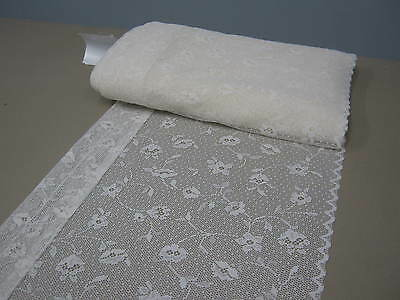 LACE CREAM CURTAIN VALANCE 40cm FOR KITCHEN, BATHROOM, TOILET, selling per mt