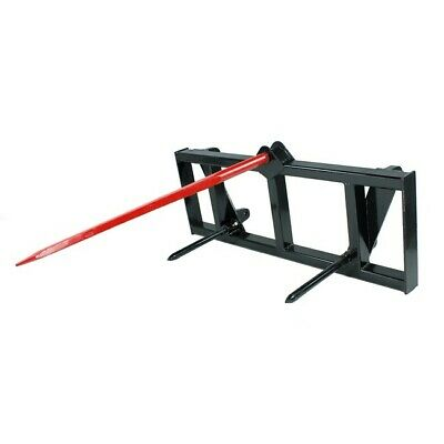 Hay Spear Attachment for Global Euro Carrier Quick Attach Mount tractor Deere
