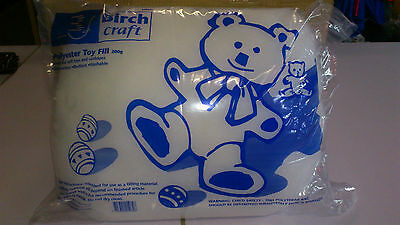 BIRCH POLYESTER TOY FILL WADDING 200gms BAGS