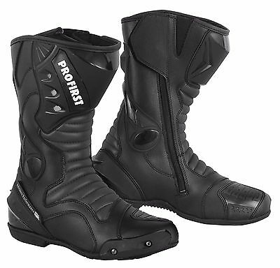 ProFirst Motorcycle Motorbike Leather Boots Waterproof Protection Bikers Shoes