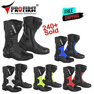 ProFirst Motorcycle Leather Boots Motorbike Waterproof Protection Bikers Shoes