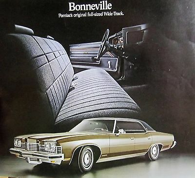 1973 Pontiac Dealer Sales Brochure Literature Bonneville - Original