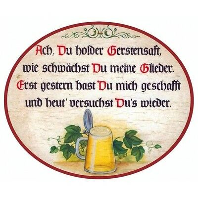 Ach du holder Gerstensaft Türschild