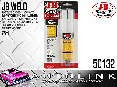 JB WELD PLASTIC WELD BOND QUICK SETTING EPOXY - CURES IN 1 HR , 25ml 50132 USA