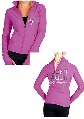 **heels Down Clothing** Spandex Sport Jacket..dont Quit..all Sizes