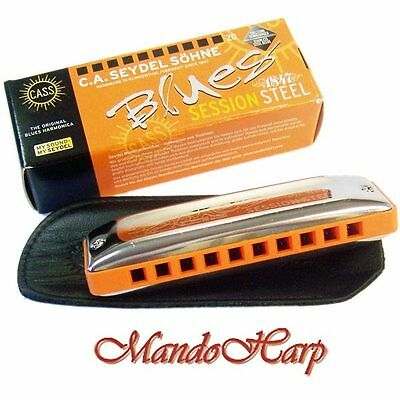 Seydel Harmonica - 10301 Blues Session Steel (SELECT KEY) NEW